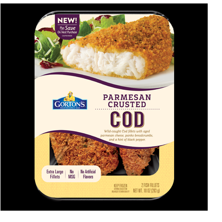 Gortons parm crusted cod